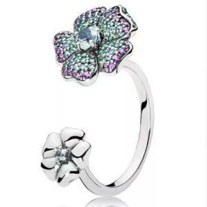 Pandora glorious Bloom ring size 7.